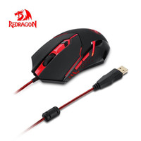 Wholesale Wire Weight - Redragon M601 Wired Gaming Mouse 3200 DPI 6 Button Gaming Mouse for PC Laptop Ergonomic Weight Tuning Pro Gamer Play Black+Red