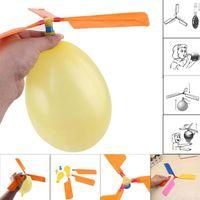 spielzeug hubschrauber ballons groihandel-Fliegenballon-Hubschrauber DIY Ballonflugzeug Spielzeugkinder Spielzeug selbst kombinierter Ballon-Hubschrauber freies Verschiffen
