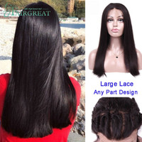 Wholesale peruvian human hair wigs online - Malaysian Full Density Lace Frontal Wig Remy Straight Wigs Lace Front Human Remy Hair Wigs For Women