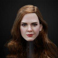 ingrosso figure di signora-1/6 di scala figura femminile di bellezza Lady Emma Watson capo Sculpt per 12 pollici Bodies donne