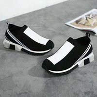 Wholesale shoes sell for sale - Group buy 2018 Hot selling Newest Designer Women S Men s Sneakers Sock casual shoes Yellow Women Shoes Blue Men sock shoes with box