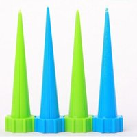 Wholesale plastic drip tip bottles online - 4 Indoor Automatic Garden Cone Watering Spike Plant Flower Waterers Bottle Drip Irrigation Tips Houseplant Water Spikes
