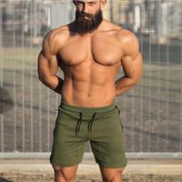 Wholesale workout clothes for men - bodybuilding sweatpants fitness short jogger casual gyms men shorts drawstring side zipper workout clothes for male M66018