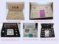 Wholesale Gift Boxes Birthday - Kylie makeup sets Vacation Pink Birthday Holiday christmas fall collection don't open until Christmas Edition Makeup set Gift Box