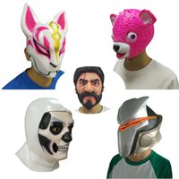 ingrosso rosa pieno viso maschera -Maschera in lattice Cuddle Team Leader Maschera Cosplay Divertente Animale Rosa Orso John Wick Reaper Battle Royale Maschere Halloween Party Puntelli
