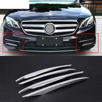 Wholesale mercedes e class - 4pcs ABS Chrome Front Grille Fog Lamp Cover Trims For Mercedes Benz E Class W213 2016 2017 Car Accessory