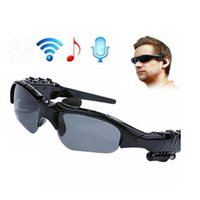 Wholesale bluetooth sunglasses online - Sunglasses Bluetooth Headset Outdoor Glasses Earbuds Music with Mic Stereo Wireless Headphone For smartphone Samsung Huawei