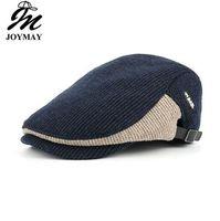 Winter Cotton Berets Caps For Men Casual Peaked Cap Beret Hats