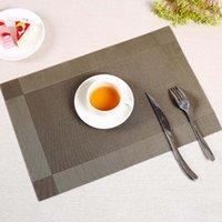 ingrosso placemats di bambù-1 PZ 6 colori PVC da cucina dinning tavolo di bambù tovagliette tovaglia mat manteles individuales centrini tappetini pad sottobicchiere 30 pz