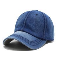 Baseball Cap Women Dad Snapback Caps Men New Homme Hats For Men Falt Bone  Denim Jeans Blank Gorras Casquette Plain Dad Cap Hat 050e5c09195