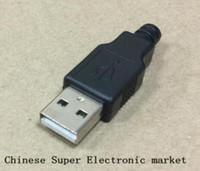 Wholesale belt male plug for sale - Group buy 50PCS DIY Usb belt plastic usb a plug male USB