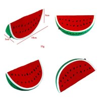 Wholesale hot toys silicone online - Watermelon Squishy Slow Rising Jumbo Squishies Phone Charm Kawaii Squeeze Food Fruit Simulation Vent Toy Hot Sale jh V