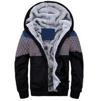 cardigans en coton polyester pour hommes achat en gros de-Nouveau Mode Hommes Sweat D'hiver Hoodies Épais Coton À Capuche Manteaux Survêtement Hommes molleton Cardigans mens sweatshirts 4XL 5XL