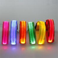 correa de mascotas resplandor al por mayor-LED iluminar Luminous Arm Band Glow Nylon USB Charge Collares de perro Pet Leash Flash Lights Night Run Seguridad Advertir 10mq bb
