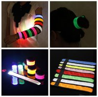 Wholesale Nylon LED Sports Slap Wrist Strap Bands Wristband Light Flash Bracelet Glowing Armband Flare Strap For Party Concert