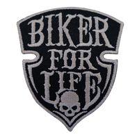 patchs de motards brodés achat en gros de-Patch Broderie Coudre Fer Sur Biker Pour La Vie Punk Skull Rock Patchs Brodés Badges Pour Sac Jeans Chapeau T Shirt DIY Appliques Décoration