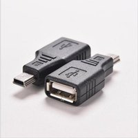 автомобильный mp3-разъем оптовых-Mini USB Male to USB Female Converter Connector Transfer data Sync OTG Adapter for Car AUX MP3 MP4 Tablets Phones U-Disk Mouse