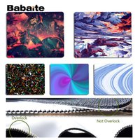 Wholesale cool abstract art - Babaite Cool New Abstract digital art Silicone Pad to Mouse Game Size for 18x22cm 25x29cm Rubber Mousemats
