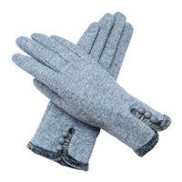 многоцветные пальцы теплые перчатки оптовых-Женщины перчатки сенсорный экран перчатки пять пальцев зимние теплые шерстяные перчатки мульти цвета