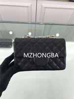 schwarze mode tasche großhandel-Europäische amerikanische Criss-Cross Caviar vielseitige Lady Bag Vogue Diamant Lattice Messenger Bag 1116 Weinrot Cross Body Black