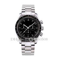 relógios de quartzo venda por atacado-China Luxo Homens relógio de alta qualidade VK quartzo mestre relógios para homens de aço inoxidável Belt Negócios Chronography Relógio
