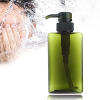 насосные бутылки для шампуня оптовых-450ml Empty Soap Shampoo Pump Square Bottle Lotion Shower Travel Press Refillable Makeup Bottles Containers