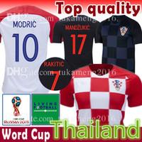 Wholesale football 14 - MODRIC 10 MANDZUKIC 17 Soccer Jersey PERISIC 4 KOVACIC 8 RAKITIC 7 SRNA 11 BROZOVIC 14 KALINIC 16 2018 world cup Football Shirt