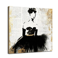 Wholesale modern girls abstract paint resale online - Modern Abstract Hand Painted HD Print Wall Art Oil Painting Ballet Girl Home Deco On High Quality Canvas Multi Sizes g191