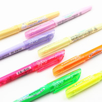 флуоресцентная писчая ручка оптовых-Pilot SFL-10SL FriXion Light Erasable Highlighter fluorescent pen 6 Soft Color Ink Erasable Writing Pen
