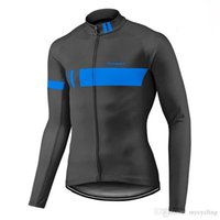 ropa pro gigante al por mayor-Giant Pro Team hombres ciclismo Jersey manga larga Tour De France bicicleta camiseta primavera / otoño bicicleta ropa ropa Ciclismo Invierno F2329