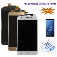 toque samsung prime al por mayor-Para Samsung Galaxy J5 Prime / G570 / G570F LCD 100% estrictamente testeado Pantalla táctil LCD Digitalizador Asamblea La mejor calidad