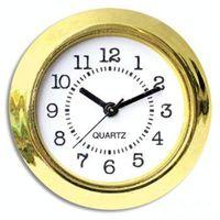 mini relojes de inserción al por mayor-37mm Barato y Oro Calidad Ni Reloj Oro Plástico montar Reloj Insertar Números Arbic Mini Insert Reloj 50 unids