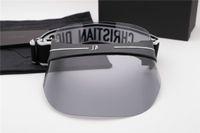 Wholesale plastic top hats - Luxury Cap Sunglasses Women Hat For Unisex Colorful Cap Outdoor UV Protection Lens Carbon Fiber Legs Summer Style Top Quality Wiht Case