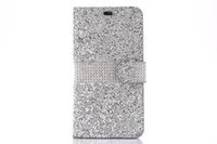 Wholesale bling full diamond case iphone for sale – best Bling Rhinestone Cases Full Diamond Phone Wallet PU Flip Leather Cover Case For Iphone X plus plus