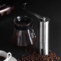 Wholesale beans grinder - Portable Coffee Grinder Stainless Steel Mini Manual Handmade Coffee Bean Mill Kitchen Tool Crocus Grinders NNA202