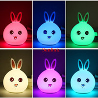 Pats Led online - led bulb price table lamp toy for kid small gift cute rabbit appearance silicone Touch Sensor Pat Control led battery light personalize gift