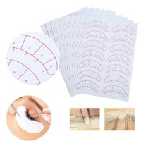 Wholesale individual stickers - 1 Set 70 Pairs Eyelashes Extension Adhesive Sticker Eye Lash Isolation Position Pads Paper Patches Under Eye Tips Sticker Wraps Exercise