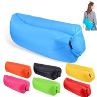 Wholesale Inflatable Toy Chair - Inflatable Air Sofa Lazy Sleeping Bag Lounger Sofa Bed Chair for Outdoor Camping Beach Hangout Windbag