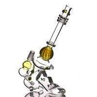 "Wholesale gun pistol laser - 8"" Laser Pistol Glass Dab Rigs futuristic design oil rigs ""ray gun"" glass bong with a diffused downstem bubbler"