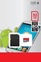 ich android großhandel-2020 heißes verkaufendes weißes A1 100mbps androides Telefon 16GB 32GB 64GB 128GB Speicherkarte der Kategorie 10 256GB UHS-1 UHS-I U1 TF Sd-Karte