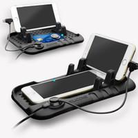aufladung telefonständer großhandel-Universal-Silikon-Ausgangsauto-Anti-Rutschmatten-Auflage-Armaturenbrett-Handy-Halter GPS-Stand mit dem Telefon, das für iPhone Huawei Xiaomi auflädt