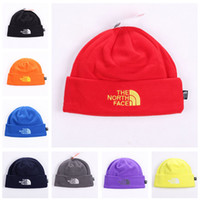 Wholesale Fleece Beanie Hats - Unisex Brand Hat The North Polar Fleece Winter Beanie Skull Caps for Men Women Outdoor Skiing Snood Hats Warm Hip Hop Cap Ear Muff Hot Sale
