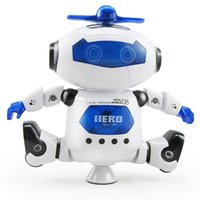 Wholesale space toys online - Electrical Music Light Dancing Robot Smart Toys Space Walking Toy Fun Plastic Musical Action Figures Gift ab W