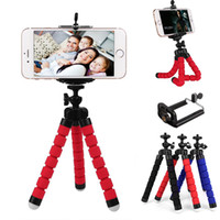 Wholesale mini octopus flexible camera tripod - Mini Flexible Camera Phone Holder Flexible Octopus Tripod Bracket Phone Stand Holders Mount Monopod Styling Accessories