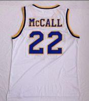 camiseta de camiseta de baloncesto al por mayor-Venta al por mayor 2018 NUEVOS hombres Omar Epps Quincy Kaul 22 MCCALL camisetas blancas de baloncesto camisetas TOPS, entrenadores camisetas de baloncesto TOP, ropa de baloncesto