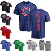 Wholesale tops women s numbered - Cubs Jersey Custom Men's women Youth CHI Cubs Baseball T Shirt Personalized Name and Number Banner Wave Tri-Blend Tank Top Jerseys