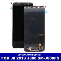 Wholesale full lcd screen phone for sale - Group buy For Samsung Galaxy J8 J800 SM J800FN AMOLED Phone LCDS Display with Touch Screen full Digitizer Assembly LCD Replacement