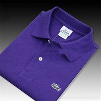 erkekler için markalı tişört toptan satış-Marka Tasarımcısı Yaz Polo Nakış lüks Tops Erkek Polo Gömlek Moda Gömlek Erkek Kadın Yüksek Sokak Rahat tasarımcı En Tee
