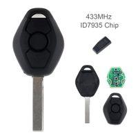 Wholesale Bmw Ews Key - 433MHz 3 Buttons Remote Car Key for BMW EWS System X3 X5 Z3 Z4 1 3 5 7 Series KEY_10D