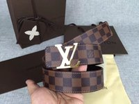 Wholesale large print box online - UuA top Big large buckle genuine leather belt with box designer belts men women high quality new mens belts luxury brand belt